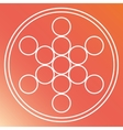 Sacred geometry icon White Shape design vector image