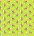 seamless background with bright bird vector image vector image