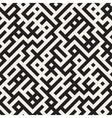Seamless Black And White Irregular Maze vector image vector image