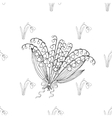 Seamless pattern with lilies of the valley vector image vector image