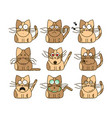 set of cat emoticons vector image vector image
