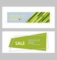 set of flat linear promotion ribbon banner scroll vector image vector image