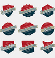 Set of vintage labels and ribbons with texture vector image vector image