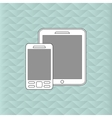Smartphone and tablet icon design vector image vector image