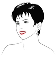 Smiling girl with short dark hair vector image