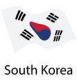 south korea flag vector image