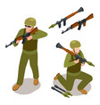 special forces soldiers and military weapons vector image