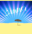 summer retro poster with lettering and beach vector image vector image