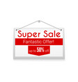 super sale horizontal poster with text design vector image vector image