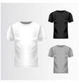 t-shirt white grey black template front view vector image