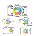 thin line flat camera icon vector image