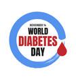 world diabetes day awareness banner vector image vector image