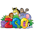 zoo sign with various animals vector image