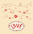 Delicate pink background with hearts Valentines Da vector image