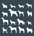 funny cartoon dog character bread white silhouette vector image