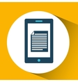 smartphone blue cartoon document bubble speech vector image