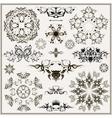 set of elegant calligraphic design elements vector image