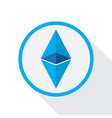 ethereum crypto currency vector image