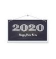 2020 happy new year greeting card festive vector image vector image