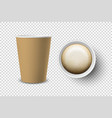 3d realistic brown disposable opened paper vector image