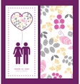 abstract pink yellow and gray leaves couple in vector image vector image