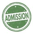 admission sign or stamp vector image
