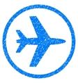 Airport Grainy Texture Icon vector image