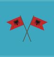 albania flag icon in flat design vector image vector image