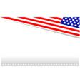 american flag symbols background border corner vector image vector image