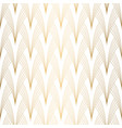 art deco pattern seamless white and gold vector image vector image