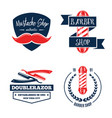 barbershop logo vintage isolated set vector image vector image
