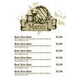 beer restaurant menu vector image vector image