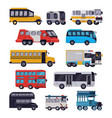 bus public transport tour or city vehicle vector image