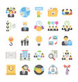 business flat colored icons 12 vector image vector image