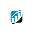 business increase logo design template vector image