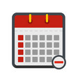 calendar page icon flat style vector image