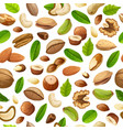 cartoon natural food seamless pattern vector image vector image