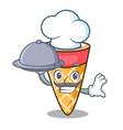 chef with food ice cream tone mascot cartoon vector image