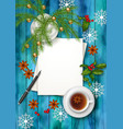 Christmas Tea Party Background vector image
