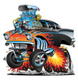 classic hot rod fifties style muscle car cartoon vector image vector image