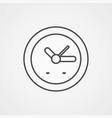 clock icon sign symbol vector image vector image