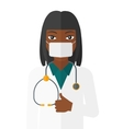 Confident doctor in mask vector image
