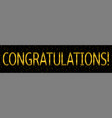 congratulations banner template vector image