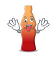 crazy cola bottle jelly candy mascot cartoon vector image vector image