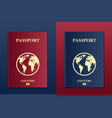 creative of passports with vector image