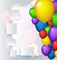 decoration with balloons vector image vector image