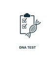 dna test icon premium style design from vector image