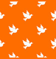 dove pattern seamless vector image vector image