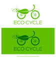 eco cycle logo vector image