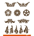 Elegance decorative set vector image vector image